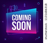 coming soon. vector abstract... | Shutterstock .eps vector #1131686318