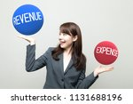 revenue and expense. | Shutterstock . vector #1131688196