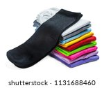 socks of different color are... | Shutterstock . vector #1131688460
