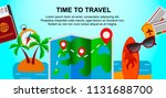 travel design. space for text.... | Shutterstock .eps vector #1131688700
