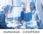 consulting startup coworking ... | Shutterstock . vector #1131693263