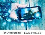 new year  christmas. smartphone ...   Shutterstock . vector #1131695183