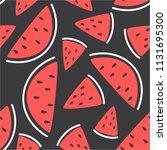 fresh fruits  hand drawn...   Shutterstock .eps vector #1131695300