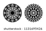 tattoo mandala. set of two... | Shutterstock .eps vector #1131695426