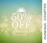 summer sale nature retro... | Shutterstock .eps vector #1131697553