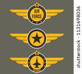 air force badge set. airforce... | Shutterstock .eps vector #1131698036