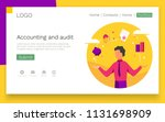 accounting and audit web design ... | Shutterstock .eps vector #1131698909