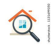 home inspection icon. clipart... | Shutterstock .eps vector #1131699350