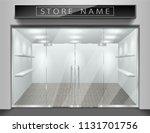 template for advertising store... | Shutterstock .eps vector #1131701756