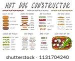 hot dog ingredients constructor.... | Shutterstock .eps vector #1131704240