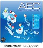 asean economic community  aec   Shutterstock .eps vector #113170654