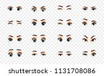 cartoon female eyes. colored... | Shutterstock .eps vector #1131708086