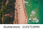 aerial top view of a nice wild... | Shutterstock . vector #1131713090