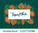 colourful summer banner with... | Shutterstock .eps vector #1131713288