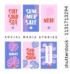 social media story templates... | Shutterstock .eps vector #1131713294