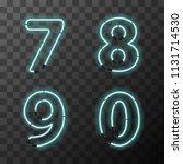 bright blue realistic neon... | Shutterstock .eps vector #1131714530