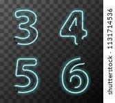 bright blue realistic neon... | Shutterstock .eps vector #1131714536