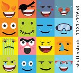 cartoon faces expressions vector | Shutterstock .eps vector #1131714953