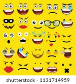 cartoon faces expressions vector | Shutterstock .eps vector #1131714959