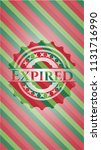 expired christmas badge... | Shutterstock .eps vector #1131716990