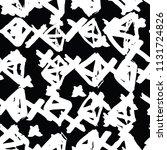 triangle pattern. black white... | Shutterstock .eps vector #1131724826