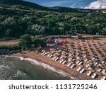 aerial view of a nice sunny... | Shutterstock . vector #1131725246