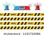 siren set. police flasher or... | Shutterstock .eps vector #1131726986