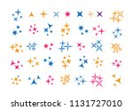 glowing light effect star.... | Shutterstock .eps vector #1131727010
