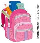 backpack female   Shutterstock .eps vector #113172709
