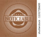 noticeable wooden emblem. retro | Shutterstock .eps vector #1131728600
