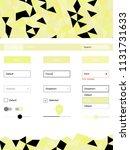 light yellow vector ui kit in...