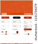light red vector wireframe kit...