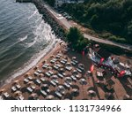 aerial view of a nice sunny... | Shutterstock . vector #1131734966