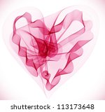 Beautiful Valentine's background with abstract pink heart, illustration - stock photo