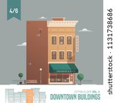 vector city builder. downtown... | Shutterstock .eps vector #1131738686