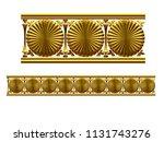 golden  ornamental segment  ... | Shutterstock . vector #1131743276