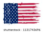 flag of usa.american grunge... | Shutterstock .eps vector #1131743696