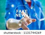 doctor pressing button fake... | Shutterstock . vector #1131744269