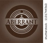 aberrant badge with wood...   Shutterstock .eps vector #1131744563