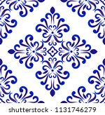ceramic tile pattern seamless ... | Shutterstock .eps vector #1131746279