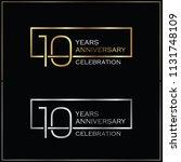 10th years anniversary... | Shutterstock .eps vector #1131748109