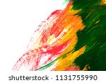 colorful abstract gouache brush ... | Shutterstock . vector #1131755990