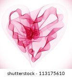 Beautiful Valentine's background with abstract pink heart, illustration, vector - stock vector