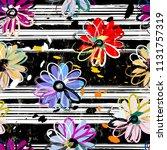 floral seamless pattern... | Shutterstock .eps vector #1131757319