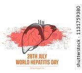 illustration of world hepatitis ...   Shutterstock .eps vector #1131759380