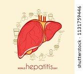 illustration of world hepatitis ... | Shutterstock .eps vector #1131759446