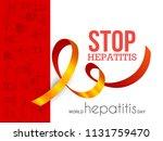 illustration of world hepatitis ...   Shutterstock .eps vector #1131759470