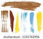 paint lines grunge collection....   Shutterstock .eps vector #1131762956