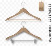 set of realistic vector wooden... | Shutterstock .eps vector #1131768383