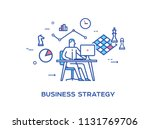 business person working on... | Shutterstock .eps vector #1131769706